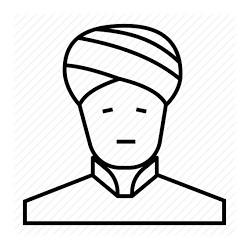Turban  blanc synthétique