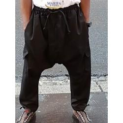 Sarouel noir avec poche