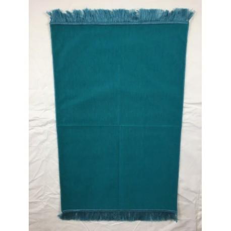 Tapis de prière bleu turquois uni