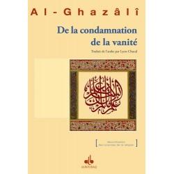 De la condamnation de la vanité Abû-Hâmid Al-Ghazâlî